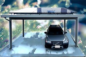 太陽光発電付きカ-ポ-ト