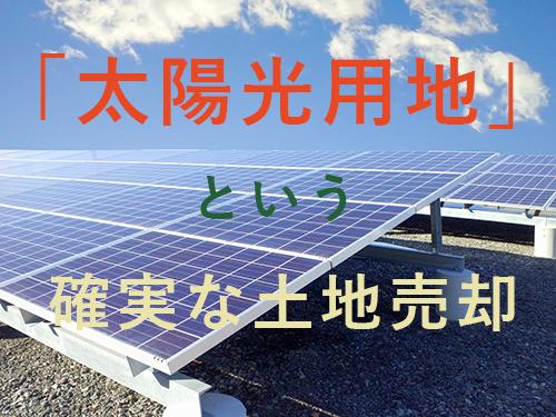 『太陽光用地紹介』事業を始めました。太陽光用地の高価買取をいたします!