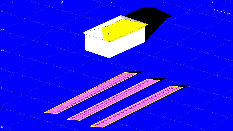 パネルの反射光もシミュレーション